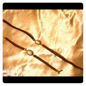 Jewelry - Faux Leather Choker and Bracelet